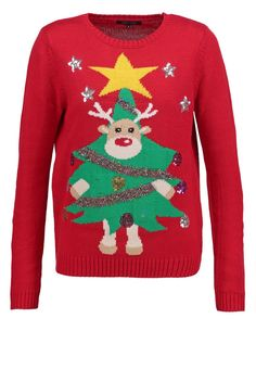 New Look 3D RUDOLPH Sweter red