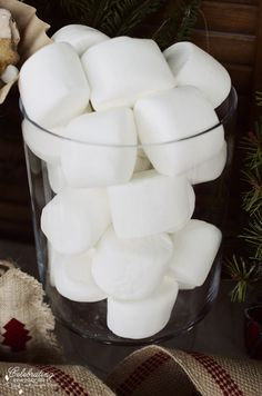Jumbo overstuffed marshmallows for Front Porch Hot Cocoa Bar, Hot Chocolate Bar, Winter Party Idea, Christmas Party Idea