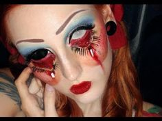 Creepy Doll make-up tutorial look Halloween 2013