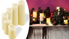 Six LED Vanilla Scented Candles Let the light shine this Christmas with a set of Six LED Vanilla Scented Candles      Vanilla-scented candles keep rooms smelling sweet all day long      Each candle is a different height; use individually or altogether      Please refer to 'Full Details' for candle sizes      Flickering LED light gives a natural, realistic glow      Safe around children,...