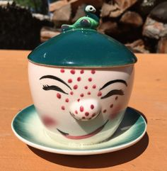 Vintage Clown Jam/Marmalade  Pot with Spoon by Lilywhitefish