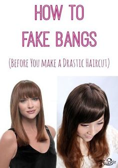 Fake Bangs Hairstyle New How To Create Faux Bangs With Only Two Bobbypins Videoloepsie