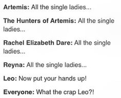 That was awesome, then I read Leo's line, Now I can't stop laughing