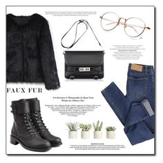 """""""Faux Fur Coats"""" by alinnas ❤ liked on Polyvore featuring Cheap Monday, Chicwish, Philosophy di Lorenzo Serafini, Proenza Schouler and Allstate Floral"""