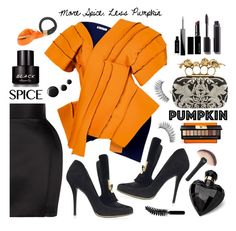 """More Spice, Less Pumpkin"" by esch103 ❤ liked on Polyvore featuring Valextra, Yves Saint Laurent, Balmain, Maticevski, Kenneth Cole, Alexander McQueen, Loewe, Lipsy, Givenchy and Witchery"