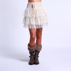Mini Mesh Skirt by Cecico