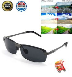 Night Vision Polarized Sunglasses Driving Glasses HD Aviator HD NIGHT DRIVING #Dreamviva #mens
