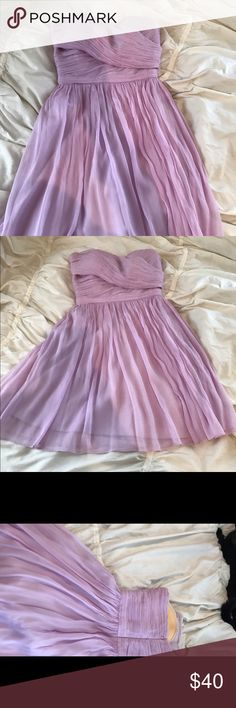 J.crew formal dress Only worn once! Beautiful lilac color J. Crew Dresses