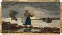 """""""Inside the Bar,"""" Winslow Homer, 1883, watercolor and graphite on off-white wove paper, 16 x 29"""", The Metropolitan Museum of Art."""