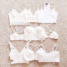 crop tops white cute bra fun vintage bralette