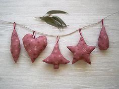 Christmas ornaments  mauve Christmas decoration by greylittlemouse