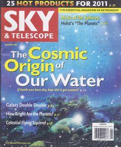 Sky and Telescope magazine Water origin Galaxy almanac Celestial Flying squirrel