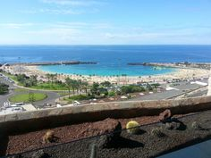 Amadores Beach, Puerto Rico, Gran Canaria.  Still hot in Nov/December.  Lovely!