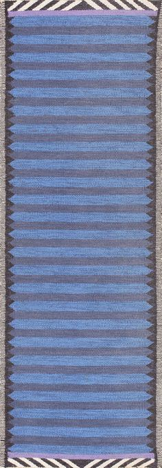 Beautiful Blue Vintage Scandinavian Swedish Runner 47693 Main Image - By Nazmiyal  http://nazmiyalantiquerugs.com/antique-rugs/scandinavian-style/beautiful-blue-vintage-scandinavian-swedish-runner-47693/