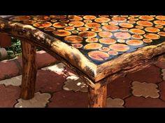 Sanat eseri natural odun sehpa yapımı - YouTube