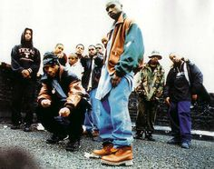 This is the hip hop era during the 90's which can be found till today. Men would wear baggy jeans and big shirts and jackets with boots.