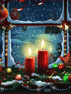 Merry Christmas Gif, Christmas Scenery, Magical Christmas, Christmas Candles, Christmas Past, Christmas Wishes, Christmas Pictures, Christmas Blessings, Christmas Greetings