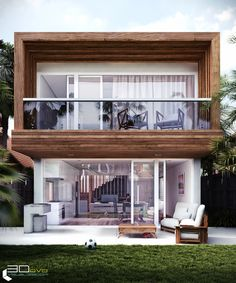 Love the look of this small compact housing! Narrow House Designs, Modern Exterior House Designs, Modern House Facades, Dream House Exterior, Small House Design, Modern House Design, Small Villa, House Architecture Styles, Casas Containers