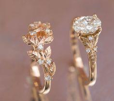 Engagement Ring Rose Gold, Dream Engagement Rings, Morganite Engagement, Engagement Ring Settings, Vintage Engagement Rings, Diamond Wedding Bands, Vintage Rings, Wedding Rings Vintage, Oval Engagement