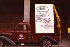 Toby bought a daffodil, will you? This was a float in the 1984 Daffodil Parade. #MyDaffodil