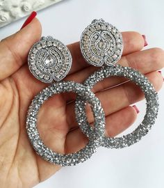 Shibori, Salsa, Beading, Handmade Jewelry, Hoop Earrings, Jewellery, Live, Ideas, Style