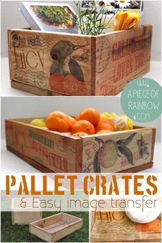 make pallet wood crates & image transfer to wood | a piece of rainbow