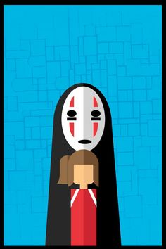Spirited Away minimalist poster by Andy Glover