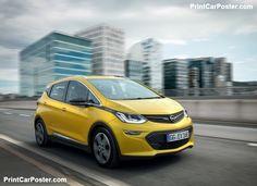 Opel Ampera-e 2017 poster, #poster, #mousepad