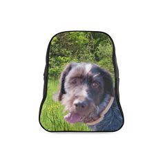 Dog and Flowers School Backpack. FREE Shipping. FREE Returns. #lbackpacks #dogs