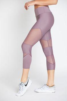 594ce08f8e5 Cut Out Capri - Purple Haze  L  Leggings  M Cute Gym Outfits
