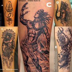 SHIVA TATTOOS......~*NSpice❤ Hindu Tattoos, God Tattoos, Arrow Tattoos, Body Art Tattoos, Tattoos For Guys, Kali Tattoo, Shiva Tattoo Design, Neo Tattoo, Mahadev Tattoo
