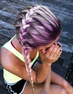 Blonde & purple