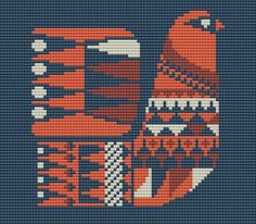 1950s Bird Cross Stitch Pattern