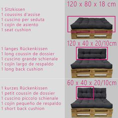 Picture 3 of 12 Pallet Furniture Cushions, Pallet Sofa, Shabby Vintage, Sofa Pillows, Seat Cushions, Euro Palette, Vintage Cushions, Seat Pads, Wood Pallets