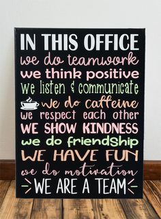 In This Office We Do Teamwork Motivational Quotes Painted CanvasYou can find Teamwork quotes and more on our website.In This Office We Do Teamwork Motivational Qu. Good Team Quotes, Team Quotes Teamwork, Motivational Quotes For Workplace, Office Quotes, Inspirational Quotes For Workplace, Sport Quotes, Motivational Quotes For Teamwork, Positive Workplace Quotes, Quotes Positive