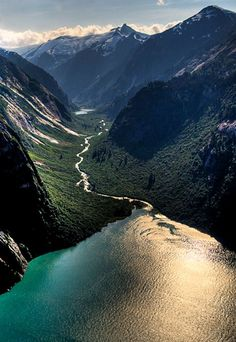 Tracy Arm Fjord, Alaska   One of the most popular fjords in the country, this masterful hillscape was named after the famed Secretary of the Navy, Benjamin Franklin Tracy.