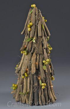 Coastal Christmas: DIY a Driftwood Christmas Cone. CraftsnCoffee.com