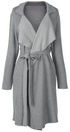 Another big lapel style to have with $29.99&7 Days delivery Only! Easy Return + Refund! This long front open knitting coat with sash gonna be your fave this fall. Show it off at Cupshe.com