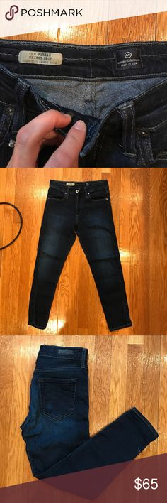 AG the Farrah skinny crop ankle jean AG the Farrah skinny crop, high rise skinny crop. Excellent condition. Only worn a handful of times. Dark wash. Ag Adriano Goldschmied Jeans Ankle & Cropped