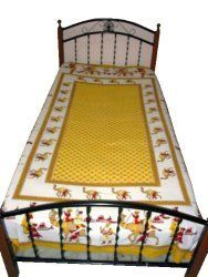 Cotton Bedspread Yellow Ivory Bed Sheets /Sofa Throw/ Table Cloth India Home Decor Mogul Interior http://www.amazon.com/dp/B00APCMBNM/ref=cm_sw_r_pi_dp_96FUtb0EEW4S7T1D