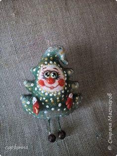 Куклы Новый год Шитьё МК по созданию игрушек на елку в технике грунтованный текстиль Ткань фото 13