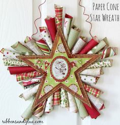 Paper Cone Star Wreath Tutorial