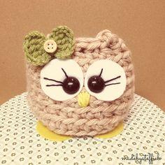 Molly the BIG owl Amugurumi finished item, super chunky