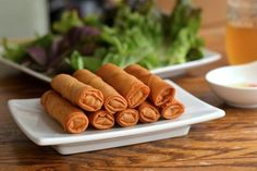 Vietnamese Egg Rolls.  These look so crunchy and delicious!  Good tutorial on wrapping as well.