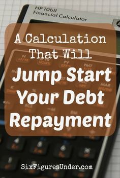 If you need some motivation to get started paying off your debt, this simple calculation might  be just the kick in the pants that you need!  It sure motivated me! Ways To Save Money, Money Tips, Money Saving Tips, Debt Repayment, Debt Payoff, Student Loan Debt, Financial Tips, Frugal Tips, Budgeting Tips