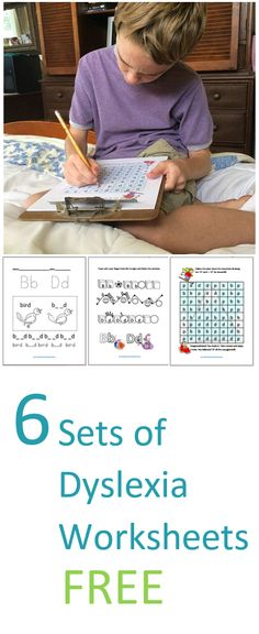 FREE Download of Six Sets of Dyslexia Printable Worksheets!