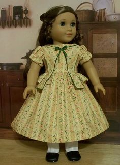 1853 Gown with Peplum made for Cecile or Marie-Grace by Keepersdollyduds, via Flickr