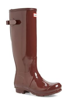 Cannot wait to whip out these glossy, burgundy Hunter rain boots when the weather cools down. @Nordstrom #nordstrom