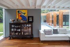 vintage sideboard, grey wall, dining room, mix 'n match, living room, art