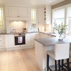 Credit: @siljeurke  #kitchen #kitchenlife #kitchendesign #kitchens #kitchendecor #whiteinterior #interior #interiors #interiordesign #roses #elegant #follow4follow #followforfollow #spamforspam #spam4spam #likesforlikes #classy #candles #furniture #kitchendesign #homedecor #decor #design #style #beautifulkitchen by interiors19 Great kitchen remodeling ideas